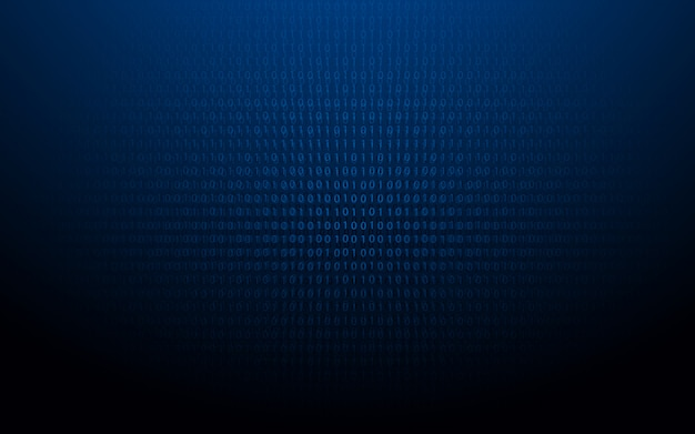 Abstract codice binario 1 e 0.