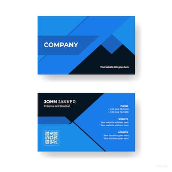 Abstract company business card design