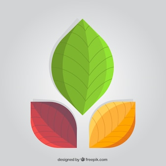 Abstract leaves logo