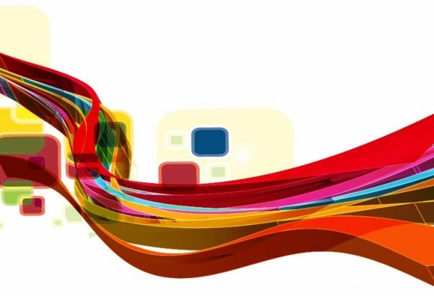 Abstract onda disegno vettoriale arte sfondo