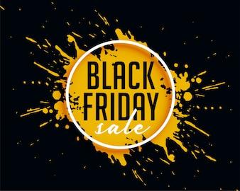 Abstract vendita venerdì nero con sfondo spruzzata di inchiostro