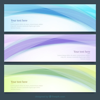 Abstract waves banners