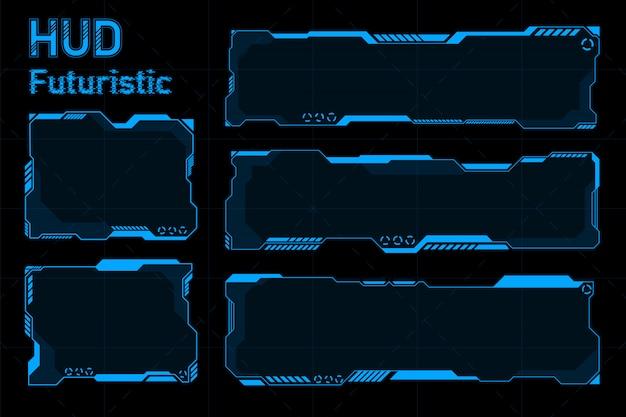 Abstracts futuristici di hud. concetto di tema futuro.