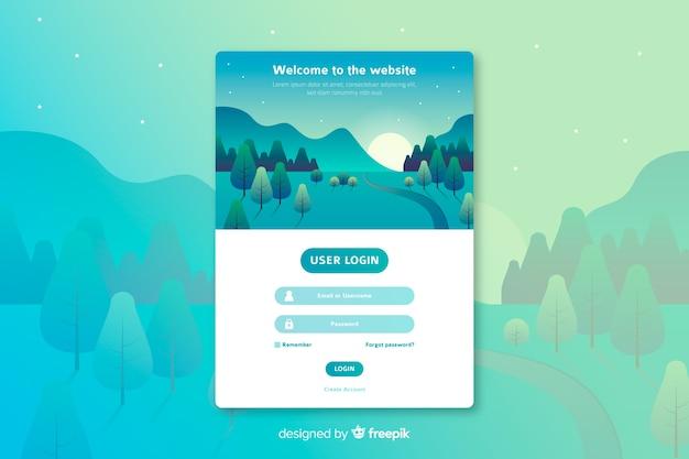 Accedi al modello web della pagina di destinazione