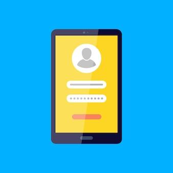 Accedi al tuo account social network accesso, password