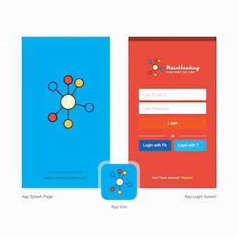 Accedi e registrati modello di progettazione modulo web.