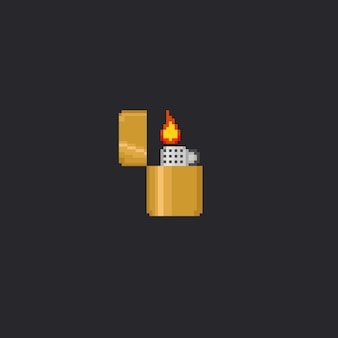 Accendino d'oro con pixel