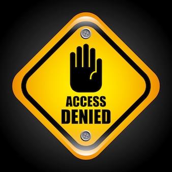 Accesso negato illustrazione grafica vettoriale