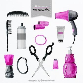 Accessori di parrucchiere impostate