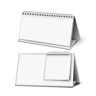 Accessorio del lavoro di pianificazione del calendario in bianco