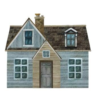 Accogliente casa di campagna in design piatto