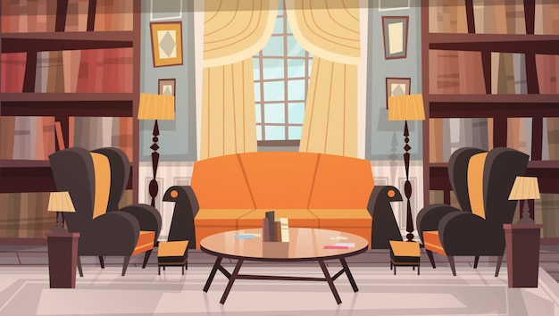 Accogliente soggiorno interior design con mobili