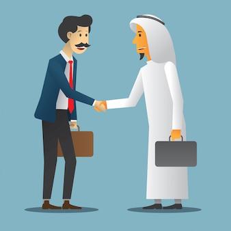 Accordo commerciale con due uomini