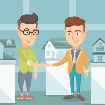 Accordo tra agente immobiliare e acquirente.