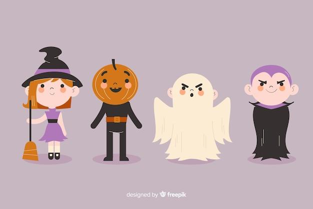 Accumulazione del bambino di halloween disegnata a mano