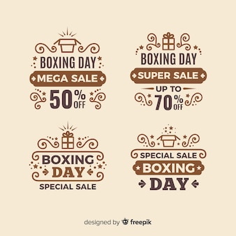 Accumulazione del distintivo di vendita di giorno di boxe dell'annata