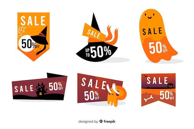 Accumulazione del distintivo di vendita di halloween disegnata a mano