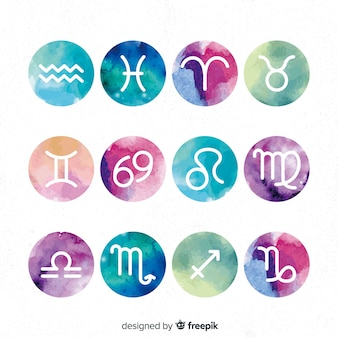 Accumulazione del segno dello zodiaco gradiente dell'acquerello