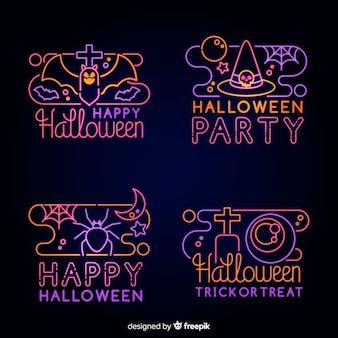 Accumulazione dell'insegna al neon dell'elemento di halloween