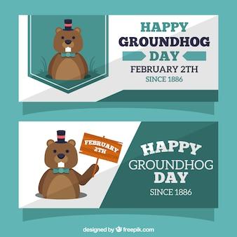 Accumulazione della bandiera groundhog day
