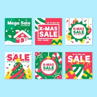 Accumulazione della posta del instagram di vendita di natale