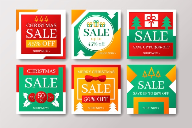 Accumulazione della posta di instagram di vendita di natale