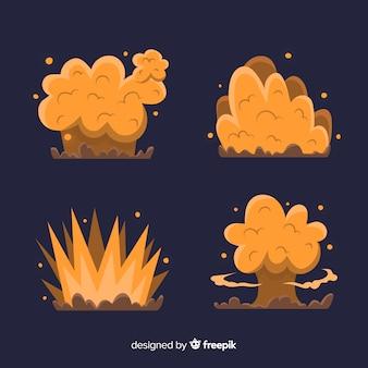 Accumulazione di effetto esplosione del fumetto disegnato a mano