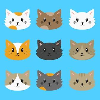 Accumulazione di vettore di gatti svegli