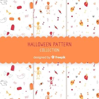 Accumulazione disegnata a mano del reticolo di halloween