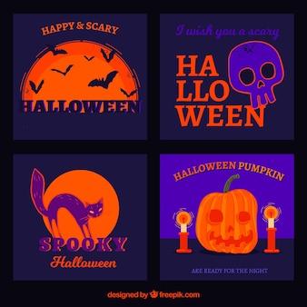 Accumulazione originale della carta di halloween