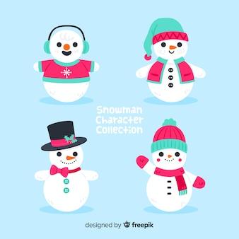 Accumulazione sveglia di natale del pupazzo di neve nella progettazione piana
