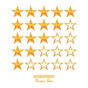 Achievement vector stars