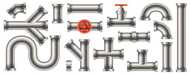Acqua in acciaio, petrolio, gasdotto, condotte di gas