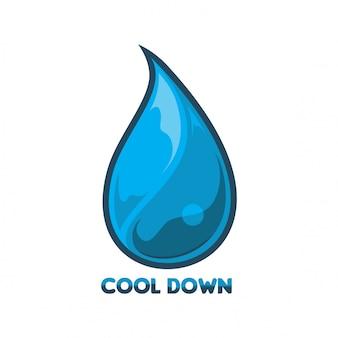 Acqua logo vettoriale
