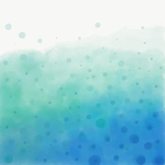 Acquerello acqua rinfrescante con le bollicine