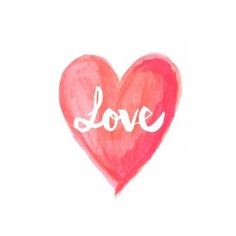 Acquerello amore sfondo