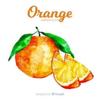 Acquerello arancione