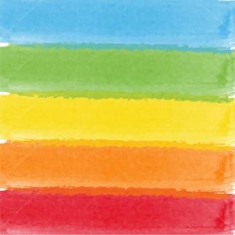 Acquerello astratto arcobaleno di colori di sfondo