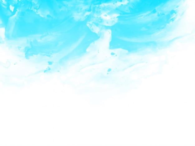 Acquerello astratto blu