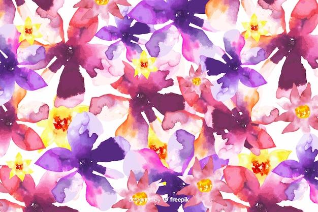 Acquerello astratto gradiente di sfondo floreale