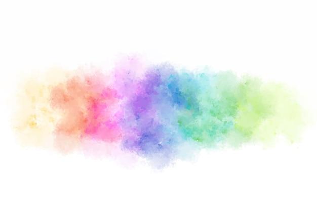 Acquerello colorato astratto che spruzza sfondo.