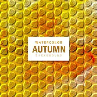 Acquerello colorato autunno sfondo