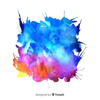 Acquerello colorato splash background