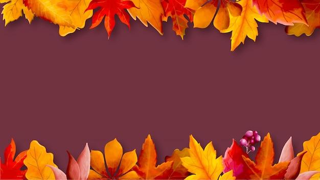 Acquerello di autunno lascia la priorità bassa
