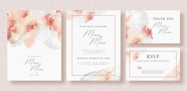 Acquerello di carta di nozze bella splash
