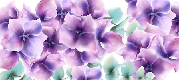 Acquerello di carta fiori di giglio. decorazioni floreali per matrimoni