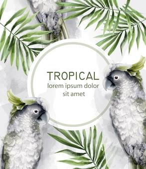 Acquerello di carta tropicale