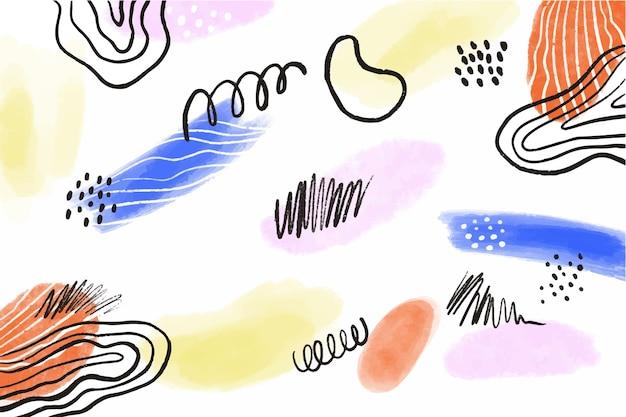 Acquerello disegno astratto