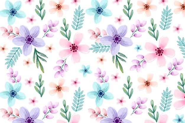 Acquerello floreale di sfondo con colori tenui