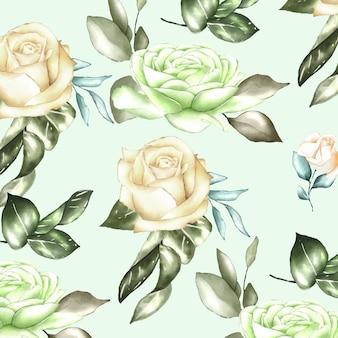 Acquerello floreale e foglie